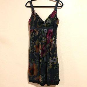 Vintage Cache Dress Size Small Black & Floral